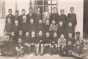 Classe primaire garçons  année 1934 ou 35